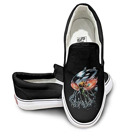 [NF18G Black Manta Strong Funny Canvas Sneaker Size41 Black] (Lightning Strike Costume)