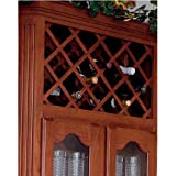 Picture Omega National Cabinet Mount Omega Wine Lattice, 11 Bottle Capacity, 17 inch W x 29 inch H, Alder
