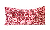Aromatherapy Cotton Eye Pillow - 4.5 x 9 - Organic Lavender Chamomile Flax - Removable Washable Cover Refillable - red mosaic geometric modern abstract sateen