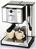 EUPA エスプッレソコーヒーメーカー ポンプ式 15気圧 パウダー・ポッド兼用タイプ ヘアライン仕上ステンレス TSK-181RSP