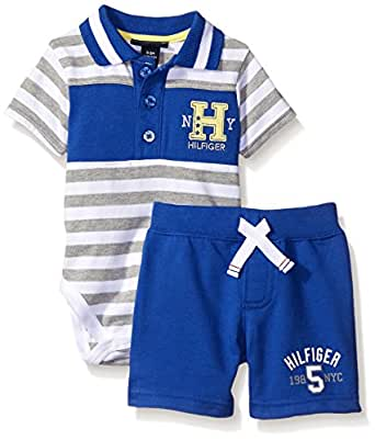 Tommy Hilfiger Baby Boys Stripe Jersey Bodysuit and
