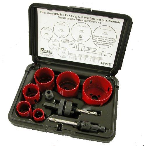 MK Morse AV04E Master Cobalt Bi-Metal Hole Saw Electricians Kit