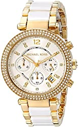 Michael Kors Women's MK6119 Parker Watch With White Link Bracelet