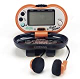 Oregon Scientific PE316FM-O Pedometer with Radio, Orange