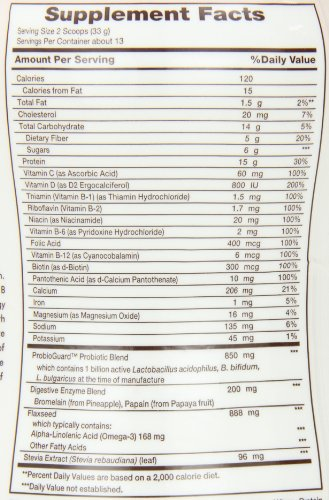 Nature S Bounty Protein Shake Nutrition Facts
