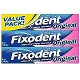 Fixodent 2.4 oz Denture Adhesive Cream, Original, 3-Pack