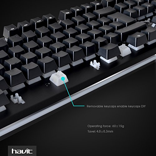 HAVIT HV-KB380L LED Backlit Wired Gaming Keyboard, Mechanical-Similar Typing Experience