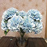 Fairy Season Artificial Hydrangea Silk Flower Bouquet for Decoration Blue