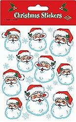 Planet Jashn Christmas Santa Face Stickers