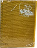 Monster Binder - 9 Pocket Trading Card Album - Holofoil Gold (Anti-theft Pockets Hold 360+ Yugioh, Pokemon, Magic the Gathering Cards)
