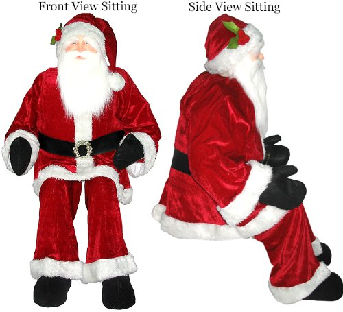 Christmas Decorations Life Size Santa: Christmas Town Around The World: Outdoor Christmas Decorations