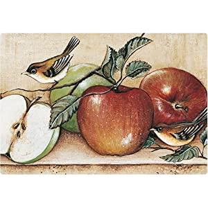 "Magic Slice Non-Slip Flexible Cutting Board, Party Size 7.5"" x 11"", Apples & Warblers by David Carter Brown"