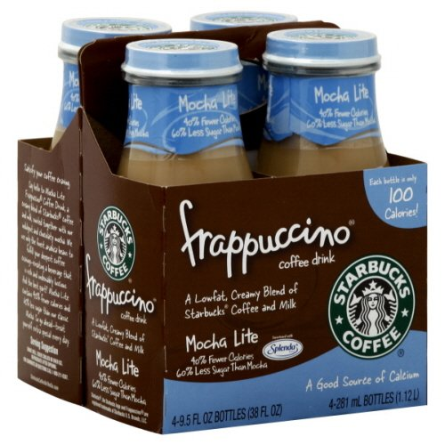 Starbucks Coffee Frappuccino Coffee Drink, Mocha Lite - 9.5 Oz. (Pack of 4)