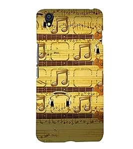 PrintVisa Music Notes 3D Hard Polycarbonate Designer Back Case Cover for One Plus X