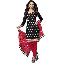 ZofianaFashions Cotton Embroidered Salwar Suit Dupatta Material (POS13)