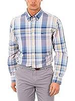 McGregor Camisa Hombre Disty Chadwick B Bd Rf Ls (Azul / Multicolor)