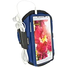 buy Igadgitz Water Resistant Blue Sports Jogging Gym Armband For Samsung Galaxy S4 Iv I9500 I9505