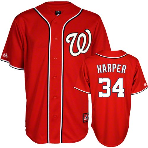 Bryce Harper Jersey: Washington Nationals Youth Alternate Red #34 (Large) at Amazon.com