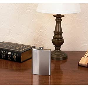 8oz Stainless Steel Hip Flask with Screw Down Cap