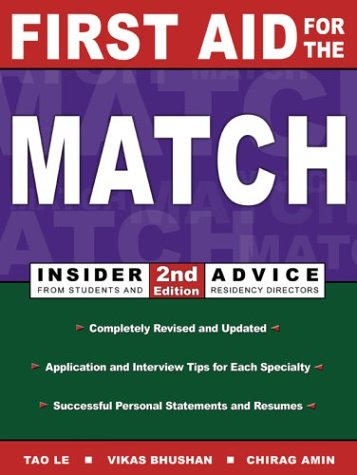 First Aid for the Match: Insider Advice From Students and Residency Directors