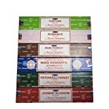 Set of 6 Incense Nag Champa Fortune Jasmine Patchouli Romance and Rain Forest... ~ Tom's Incense