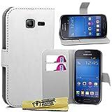 Accessory Master Etui en PU cuir pour Samsung Galaxy Trend Lite S7390 Blanc