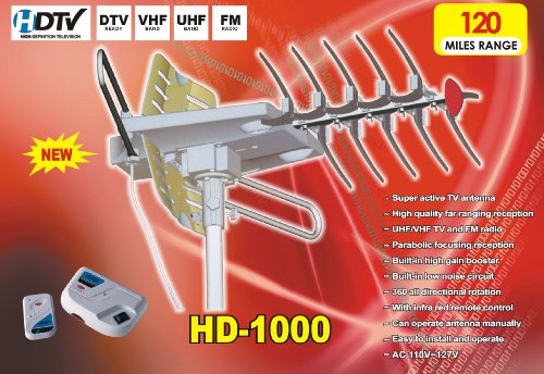 Read About Xtreme HD-1000 360º Rotating HDTV Digital Amplified Outdoor Antenna