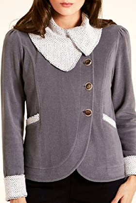 Per Una Textured Bubble Fleece Top [T62-8634H-S]