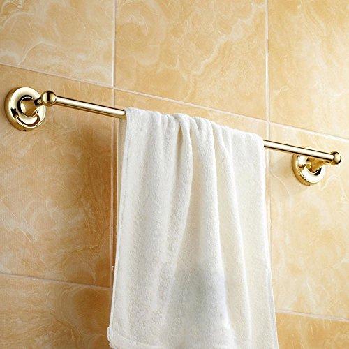 ssby European-Style Rame Placcatura, Oro, Elegance, Porta asciugamani da bagno singolo Rod Rack