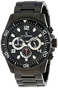 Le Chateau Men's 7072mgunmet_blk Sport Dinamica Chronograph Watch