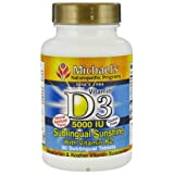 Michael's Naturopathic Progams Vitamin D3 5000 IU With Vitamin K2 Tablets, 90 Count