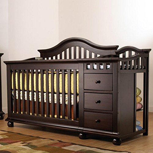 Sorelle Cape Cod Crib-n-Changer with Toddler Rail - 1