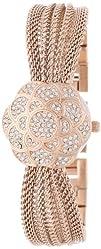 Anne Klein Women's AK/1046RGCV Swarovski Crystal Accented Rose Gold-Tone Covered Dial Mesh Bracelet…