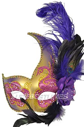 Amazon.com: Mardi Gras Swan Mask (Purple/Gold): Costume ... - photo #26