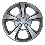 TuningPros WSC-616S14 Hubcaps Wheel Skin Cover 14-Inches Silver Set of 4