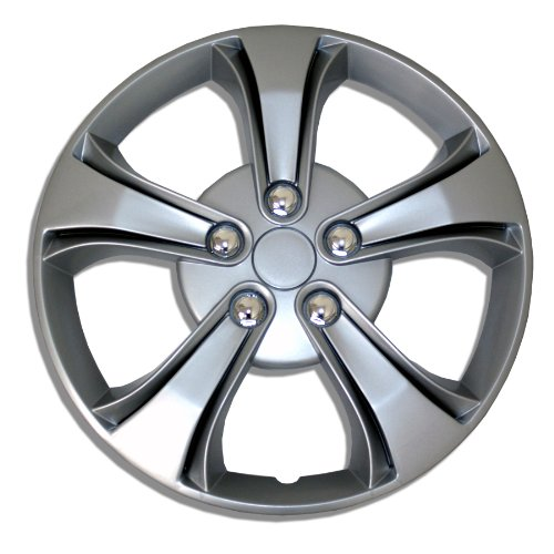 TuningPros WSC-616S15 Hubcaps Wheel Skin Cover 15-Inches Silver Set of 4 (Hubcap Hyundai Elantra compare prices)