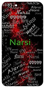 Narsi (Poet, Saint) Name & Sign Printed All over customize & Personalized!! Protective back cover for your Smart Phone : Samsung Galaxy E5