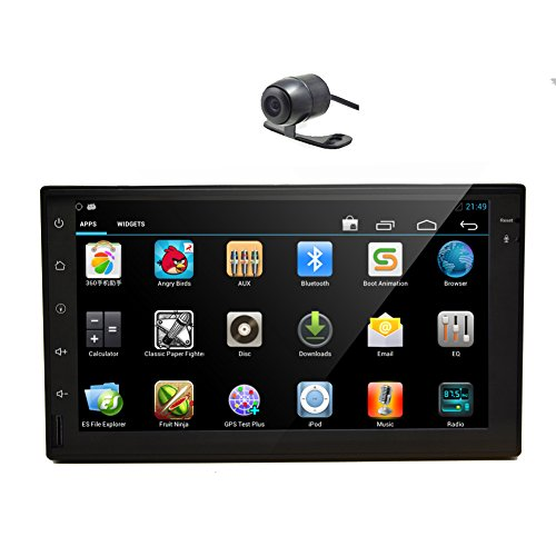3D GPS Android 5.1 Parti Multimedia sistema Lollipop Video Bluetooth baccano 2 Audio Radio Receiver Autoradio veicolo stereo FM AM Car NO-DVD Tablet RDS logo Cortex A9 quad core Back Camera