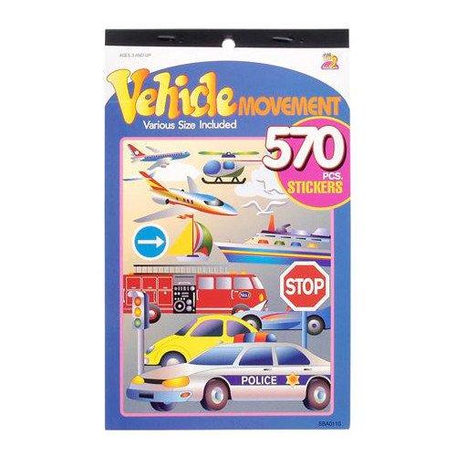 WeGlow International Vehicle Movement 570 Sticker Book (4 Count)