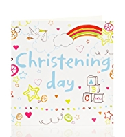 Rainbows & Clouds Christening Card