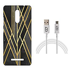 Designer Hard Back Case for Xiaomi Redmi Note 3 with 1.5m Micro USB Cable