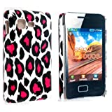 PINK LEOPARD PRINT HARD BACK PROTECTION CASE COVER FOR SAMSUNG STAR 3 DUOS S5220 S5222