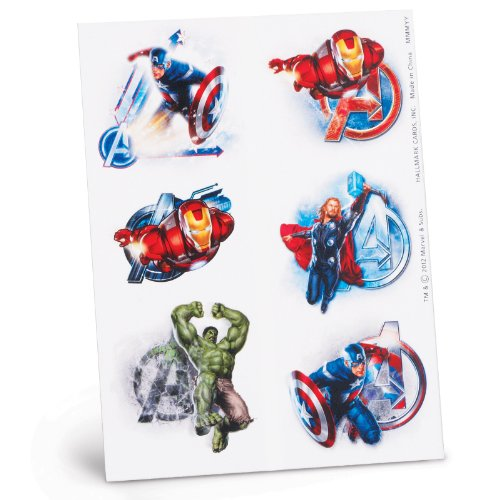 Avengers Temporary Tattoo Sheets Party Accessory - 1