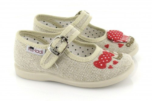 VUL-LADI, Pantofole bambine Beige Beige