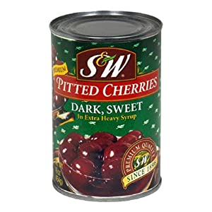 S&w Dark Sweet Pitted Cherries, 16-Ounce Units (Pack of 12)