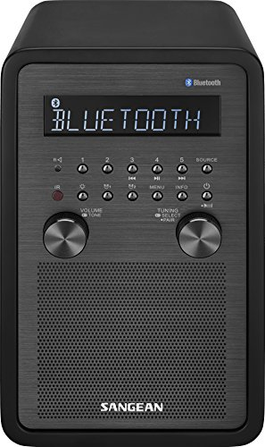 Sangean WR-50 FM-RBDS/AM/Bluetooth Wood Cabinet Table Top Radio (Tabletop Am Fm Radio compare prices)