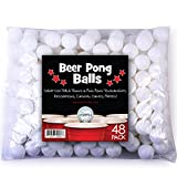 Beer Pong Balls, 48 pack, 38mm, Great for Table Tennis & Ping Pong Tournaments, Carnival Games, Parties, By Sportly®