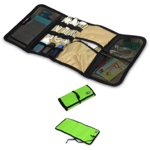 Damai Portable Universal Wrap Electronics Accessories Travel Organizer / Hard Drive Bag / Cable Stable/ Baby Healthcare Kit (2-Green) Color: 2-Green Pc, Personal Computer front-1074781