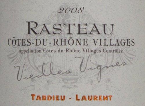 2008 Tardieu-Laurent Rasteau Cotes Du Rhone Villages Vieilles Vignes Red Wine 750 Ml