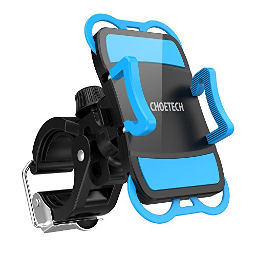 Fahrrad-Handyhalterung-CHOETECH-Verstellbarer-FahrradMotorrad-Handyhalter-360-Grad-Drehung-fr-iPhone-Samsung-und-andere-Smartphones
